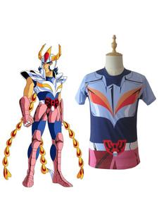 Disfraz Carnaval Saint Seiya Bronce Saint Ikki Phoenix Cloth Summer T Shirt Anime Cosplay Disfraz Carnaval