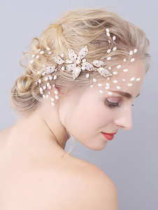 Tocados de boda Peine Accesorios para el cabello de metal para novia