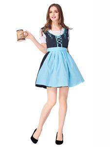البيرة فتاة حلي الظلام البحرية القوس كشكش المئزر البوليستر البيرة فتاة العطل ازياء ازياء مهرجان أكتوبر