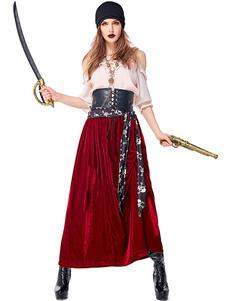Trajes do dia das bruxas trajes de pirata trajes de bandana do dia das bruxas