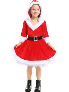 Trajes de Natal para crianças Papai Noel Cosplay Ture Vestido Vermelho Crianças Trajes Cosplay