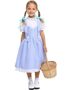 Trajes de halloween Crianças Assistente de OZ Cosplay Azul Bebê Headwear Vestido de Algodão Crianças Fantasias de Cosplay