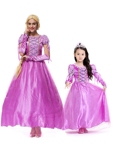 Disfraz Carnaval Disfraces de Halloween Vestido de princesa con brazo para mujer Disfraces de Halloween de poliéster rosa perla Disfraces de Halloween Carnaval