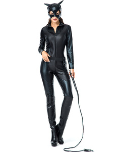 Costume Carnevale Costume di Halloween Catwoman in pelle Roleplay Cosplay