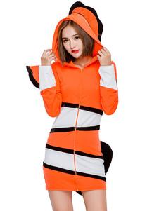 Костюмы на Хэллоуин Костюмы животных для девочек Оранжевое платье клоуна Праздничные костюмы
