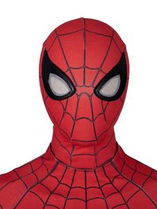 Carnevale Spider Man Cappellino Cosplay Spider Man Lontano da casa Film Nylon Marvel Comics Versione migliorata Maschera Cosplay
