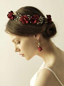 Casco Accesorio de boda Flor Metal Accesorios para el cabello para novia