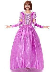 هالوين ازياء المرأة فستان الأميرة oversleeves القطيفة مطبوعة هالوين العطل ازياء