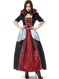 هالوين ازياء المرأة اللباس الأسود مصاص دماء المختنق الرباط العطل هالوين ازياء