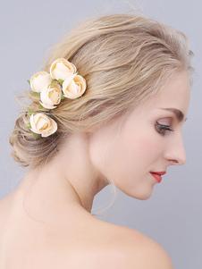 Headpieces Wedding Accessory Acessórios de cabelo de noiva de poliéster de metal