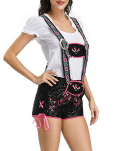 Trajes brancos de Oktoberfest dos trajes dos feriados de Dia das Bruxas da cópia do traje da menina da cerveja