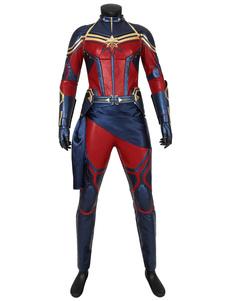 Carnevale Avengers Endgame 4 Captain Marvel Carol Danvers Poliuretano Marvel Cosmics Film Cosplay Costume