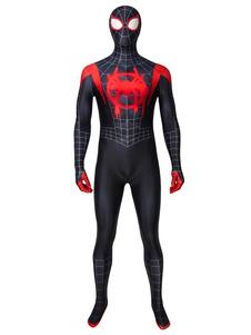 Человек-паук в паузы Мили Моралес Marvel Cosmics Фильм Косплей Костюм Колготки
