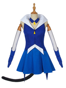 Carnaval Star Twinkle Cosplay Blue Cat Uniforme Traje de tela Traje de cosplay