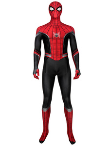 Carnevale Spider Man Lontano da casa Peter Parker Lycra Spandex Marvel Comics Film Collant Cosplay