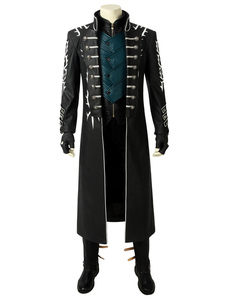 Traje Cosplay Diabo Pode Chorar 5 Vergil Faux Leather Cosplay