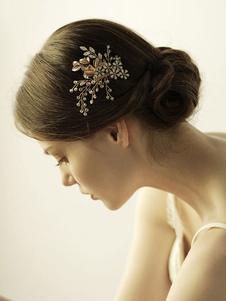 Accesorio para el pelo de la boda Accesorio Flor Hoja Metal Accesorios para el cabello para novia