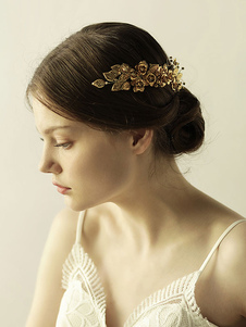 Accesorios para el cabello accesorios para el cabello de metal de hoja de flor accesorios para la novia