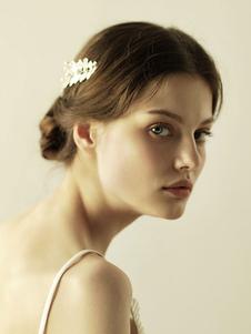 Accesorios para el cabello accesorios de metal de hoja accesorio para la boda
