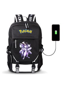 Pokemon Anime Backpacks Черная нейлоновая сумка для аниме Аниме Товары