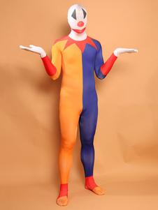 Disfraz Carnaval Halloween Zentai Trajes Payaso Leotardo Mono de lycra de dos tonos Carnaval