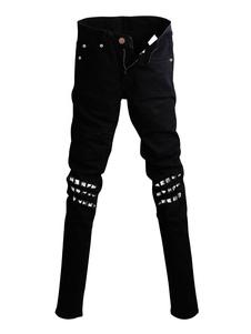 Disfraz Carnaval Jean For Men Rivets Gothic Retro Black Gothic Disfraz Carnaval