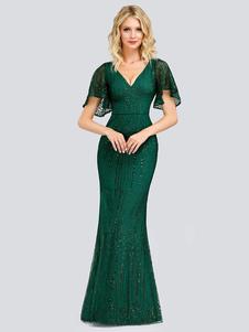 Бальное платье для матери невесты 2020 V шеи без рукавов оболочка кружева свадебные платья для гостей