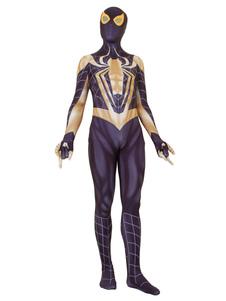 Carnevale Tuta Spider-Man Cosplay Spider Man Black Film Marvel Comics
