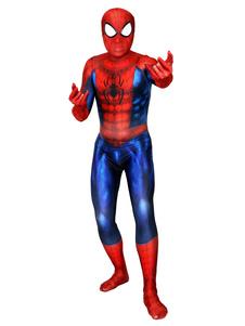 Carnevale Tuta Spider-Man Cosplay Spider Man Red Film Marvel Comics