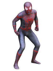 الرجل العنكبوت تأثيري الأسود الأحمر سبايدرمان تأثيري بذلة