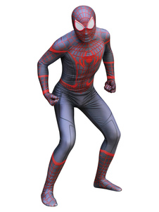 Carnaval Spider Man Cosplay Negro Rojo Spiderman Cosplay Mono
