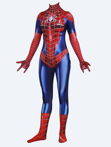 Carnevale Spider-Man Cosplay Spider Man Red Film Lycra Spandex Tuta Body Marvel Comics
