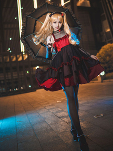 Disfraz Carnaval Fate Series Alley Cosplay Dark Red Adventure Tipo Forro Guantes Carnaval