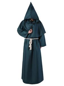 راهب هالوين زي العصور الوسطى رجال مقنعين رداء