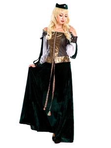 ازياء الاسكتلندي الساخن ختم الشرابة قبعة اللباس العصور الوسطى هالوين خمر الملابس للنساء