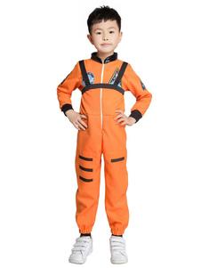 Костюмы Хэллоуина для Детей Оранжевый Астронавт Полиэстер Детский Комбинезон