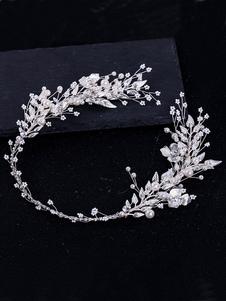 Headpieces casamento headwear flor metal acessórios para o cabelo nupcial