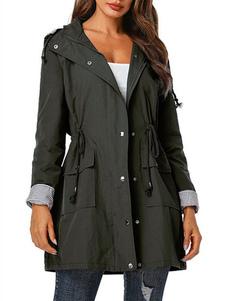 Пальто с капюшоном с капюшоном на молнии для женщин с карманами
