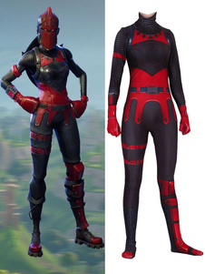 Carnevale Fortnite Red Knight Costumi Cosplay Black Fortnite Game Body Body Tuta Lycra Spandex Adulti Gioco Costumi Cosplay