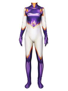 Disfraz Carnaval Boku No Hero Academia Cosplay Purple Lycra Spandex Jumpsuit Disfraces de cosplay Carnaval