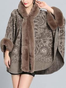 Poncho para mujer Poncho con capucha Poncho de color extragrande