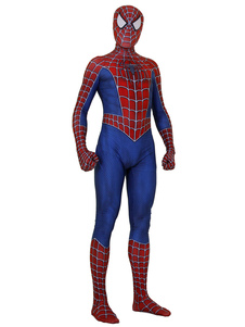 Carnevale Costume cosplay di Remy Spider Man Red Tuta Marvel Comics Film