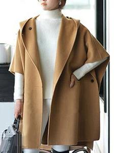 Poncho de mulher com capuz Poncho capa em camadas