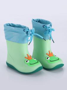 Stivali da pioggia per bambina Bambini Bambini Punta rotonda Simpatico cartone animato Frog Pig Duck Stivali da pioggia impermeabili
