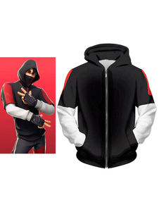 Fortnite Cosplay Costumes Samsung S10 Ikonik Skin Hoodie Game Cosplay Costumes