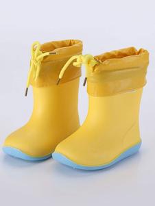 Сапоги от дождя для девочек, мальчиков, противоскользящих цветов, с круглым носком, детская обувь
