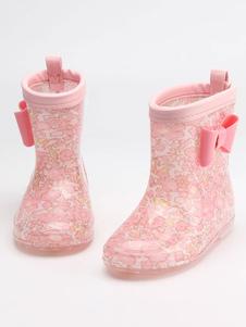 Girl's Rain Boots Дети Дети Симпатичные Лук Прозрачные Водонепроницаемые противоскользящие ботинки дождя