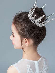 Цветочница Головные уборы Серебряный жемчуг в горошек Аксессуар Металлические детские аксессуары для волос