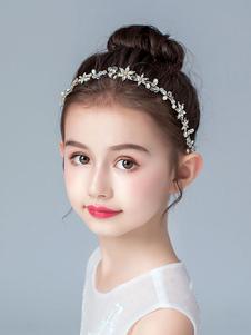 Accessori per capelli per bambina in metallo Accessori per capelli perline bionde Accessori per capelli in metallo