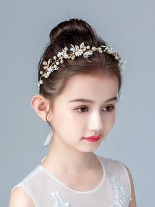 Acessórios para o cabelo da menina de flor Pérolas loiras Acessórios para crianças Pérolas Acessórios para cabelo